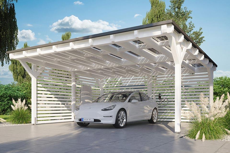 Solarcarport bei Faunt