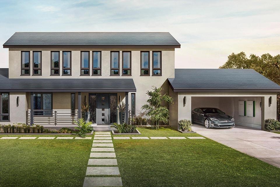 Tesla - Solar Roof bei Faunt