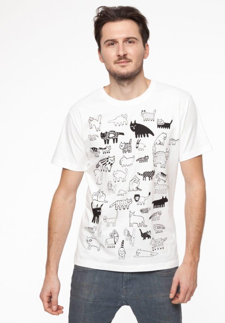 90Cats T-Shirt Weiß  von ThokkThokk