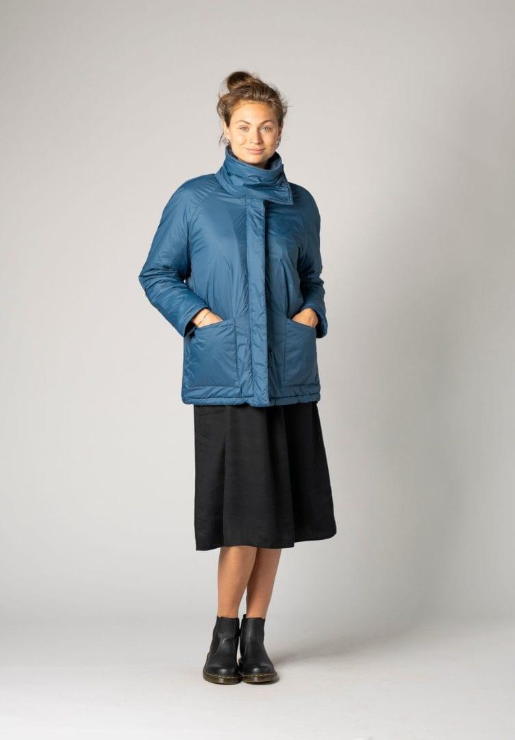 Damen Jacket Kapok Raglan Petrol  von ThokkThokk