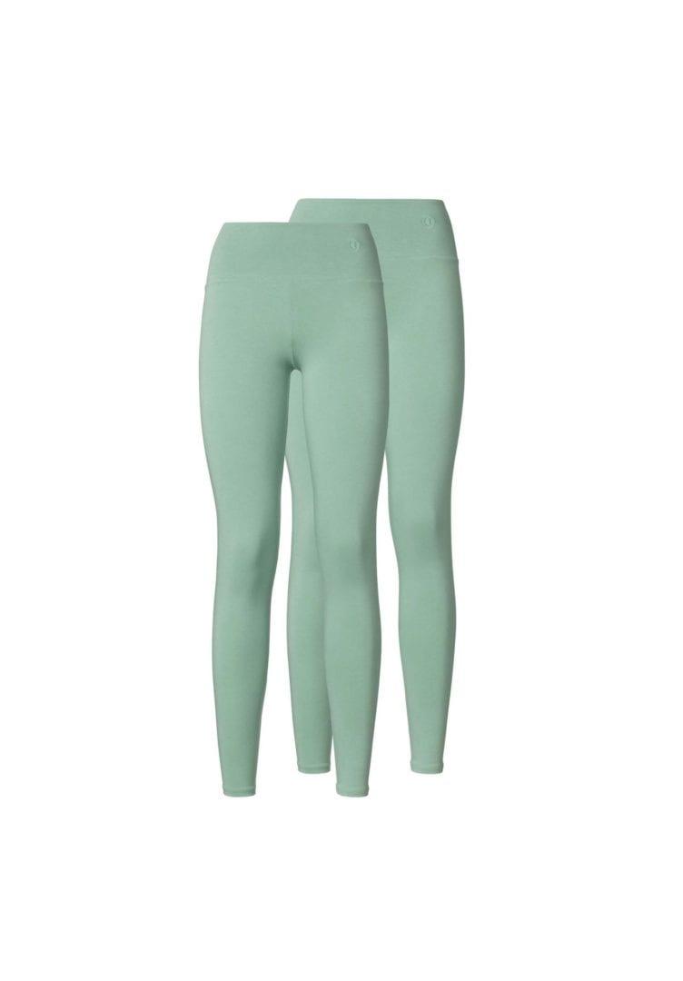 Damen Leggings Grün 2er Pack  von ThokkThokk