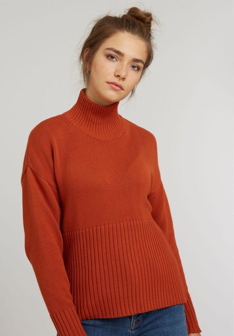 Damen Rollkragen Pullover  von ThokkThokk
