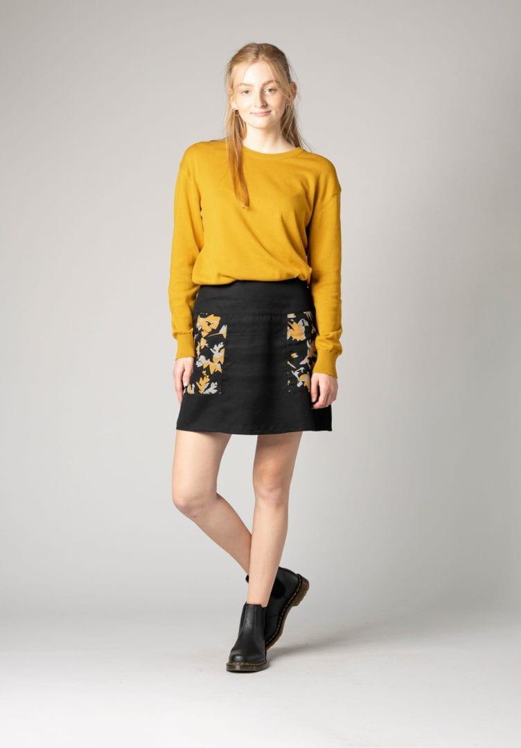 Damen Strick Pullover Gelb  von ThokkThokk