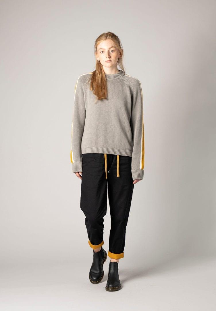 Damen Strick Pullover Grau  von ThokkThokk