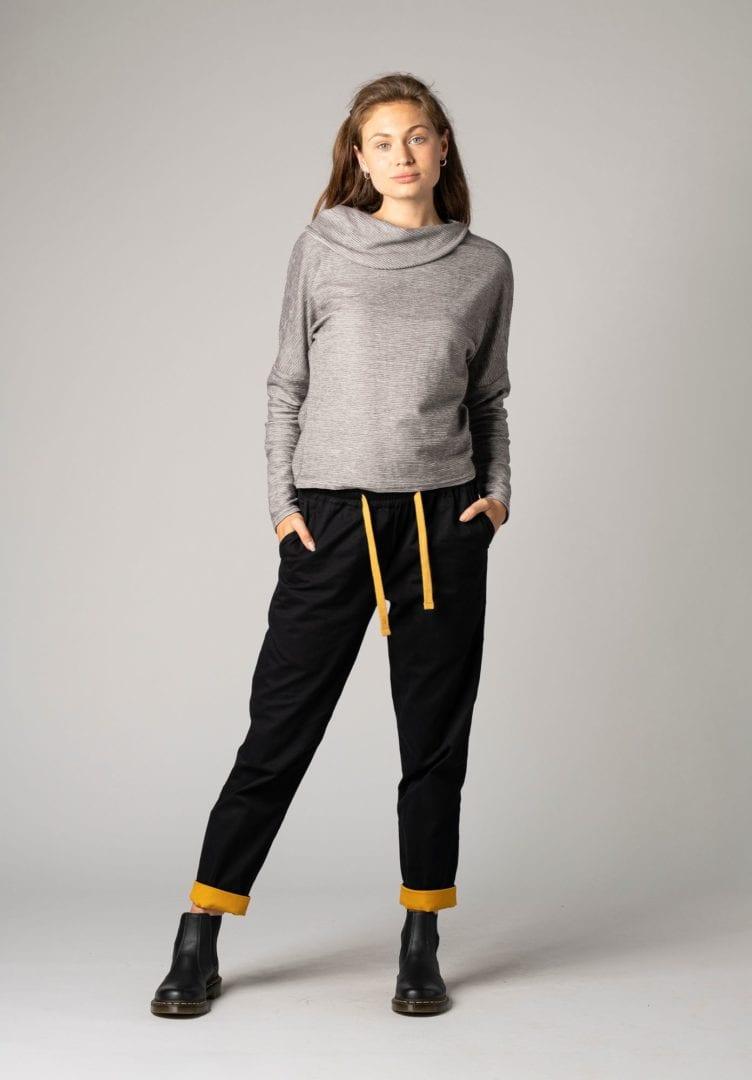 Damen Sweater Grau Meliert  von ThokkThokk