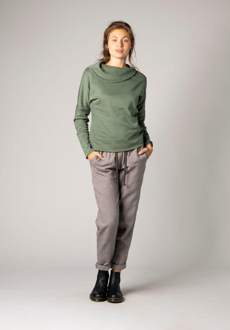 Damen Sweater Grün  von ThokkThokk