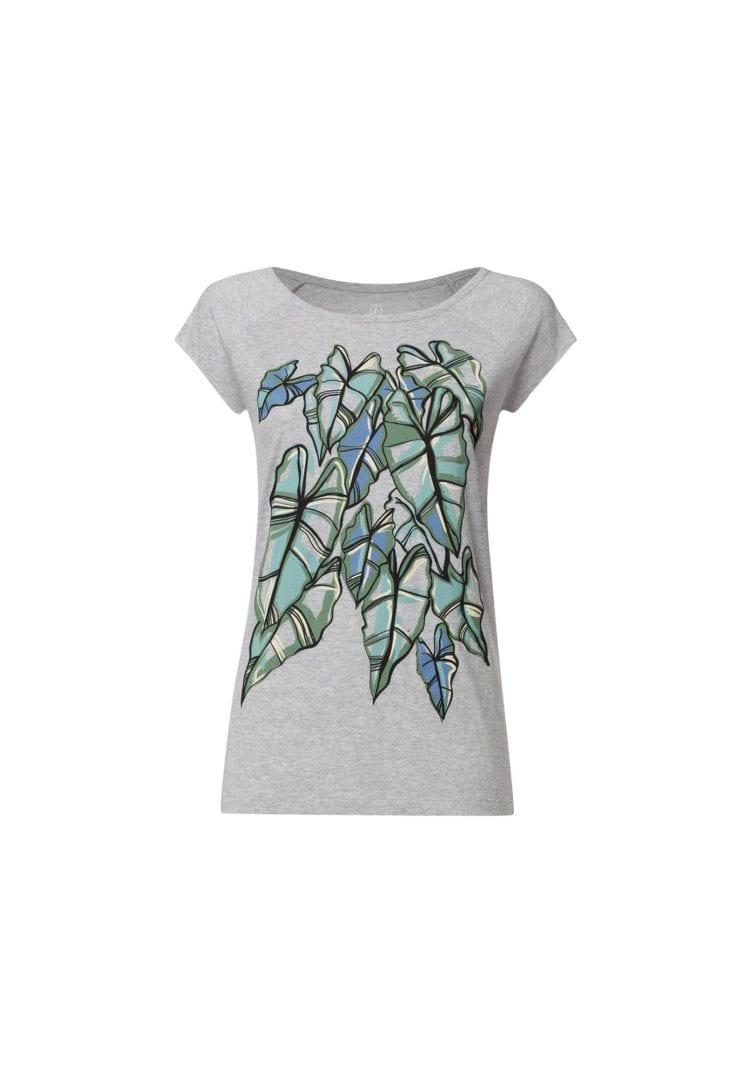 Damen T-Shirt Alocasia Hellgrau  von ThokkThokk