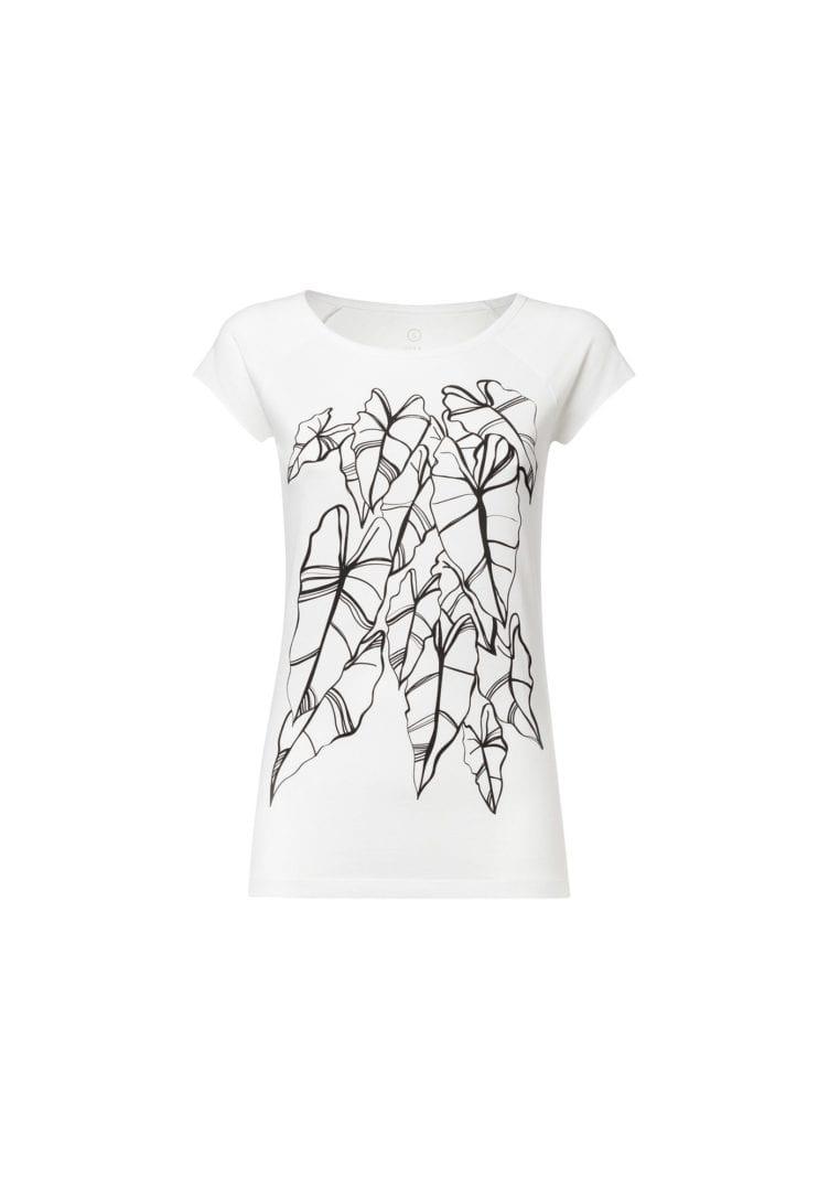 Damen T-Shirt Alocasia Weiß  von ThokkThokk