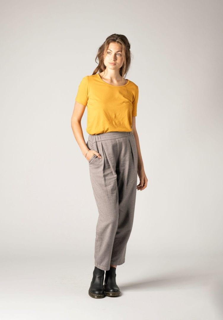 Damen T-Shirt Gelb  von ThokkThokk