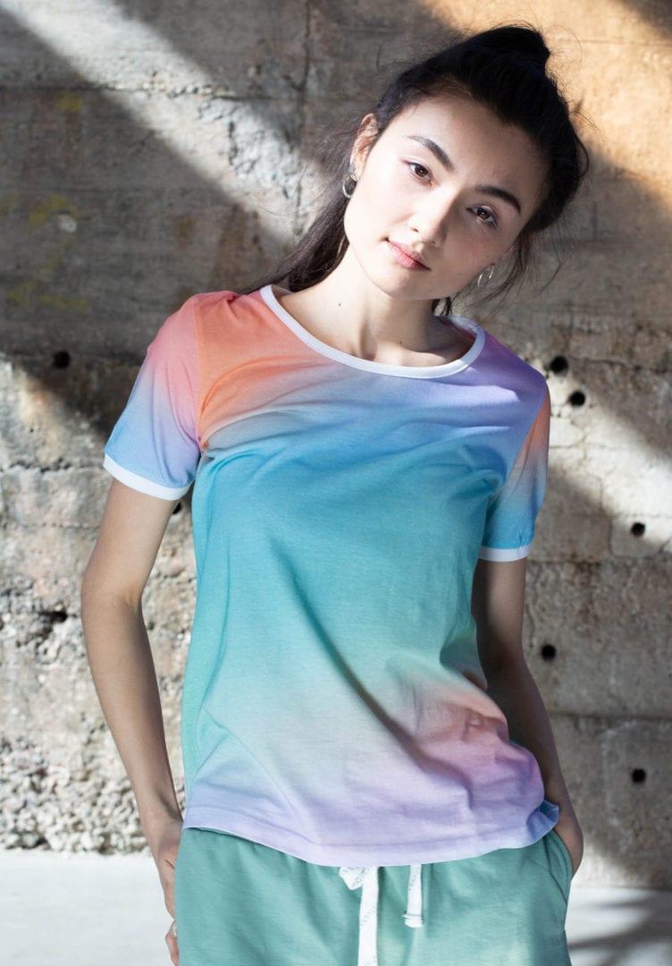 Damen T-Shirt Magic Weiß  von ThokkThokk