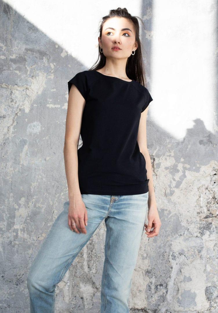 Damen T-Shirt Schwarz  von ThokkThokk