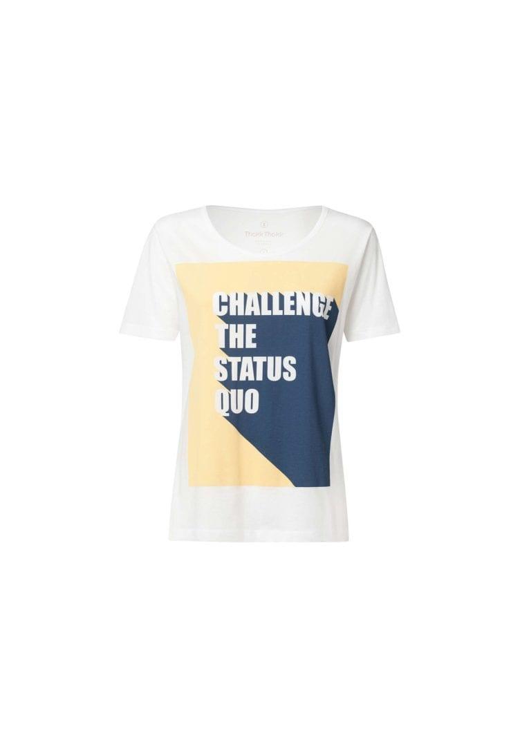 Damen T-Shirt Status Quo Weiß  von ThokkThokk