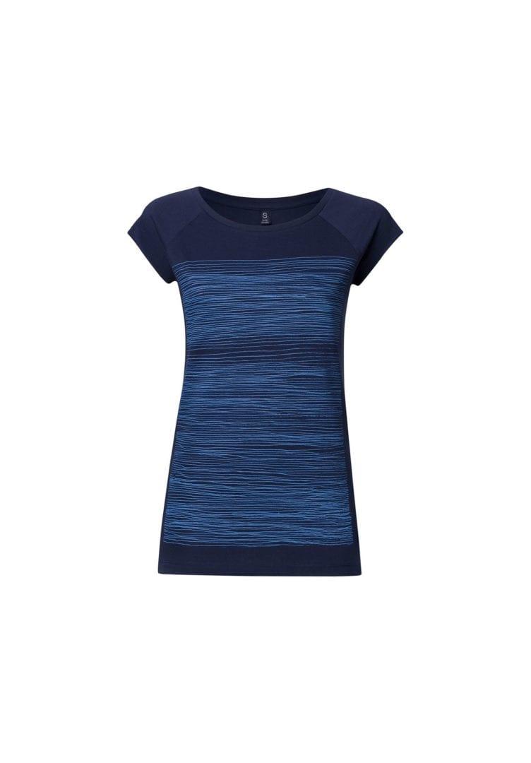 Damen T-Shirt Strokes Dunkelblau  von ThokkThokk