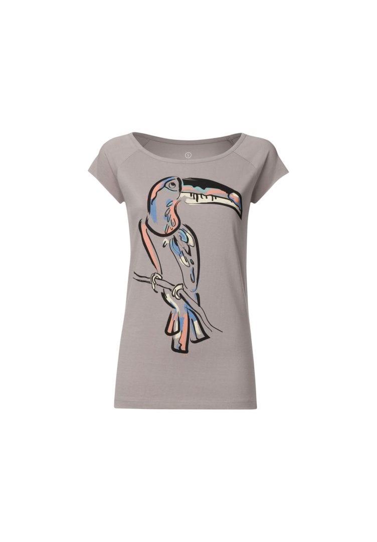 Damen T-Shirt Tukan Grau  von ThokkThokk
