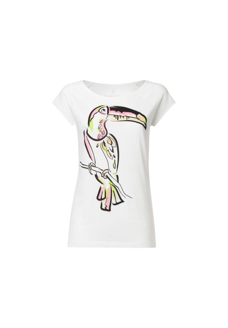 Damen T-Shirt Tukan Weiß  von ThokkThokk
