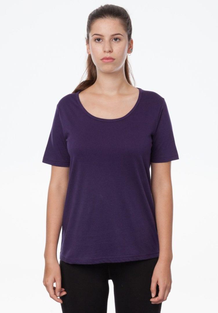Damen T-Shirt Violett  von ThokkThokk