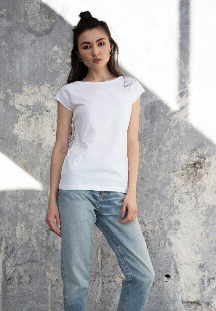 Damen T-Shirt Weiß  von ThokkThokk