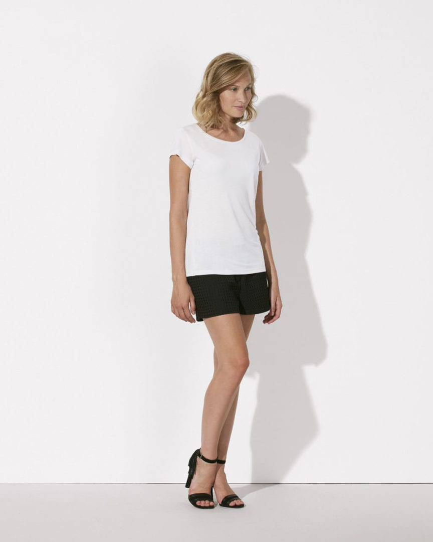 Damen T-Shirt Weiß Modal  von ThokkThokk