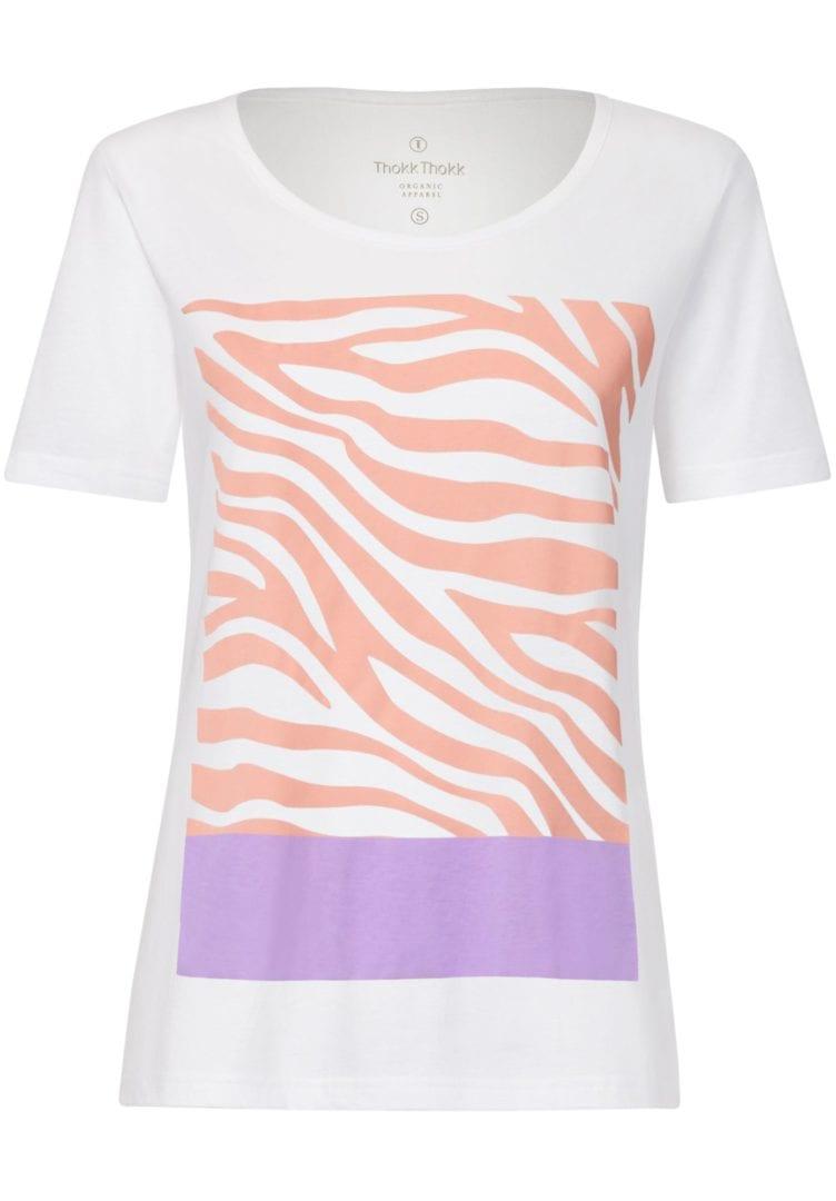 Damen T-Shirt Zebra18 Weiß  von ThokkThokk