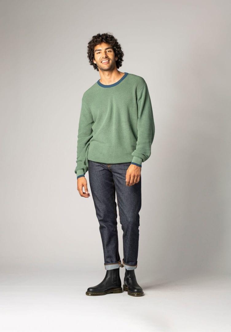 Herren Pullover Grün  von ThokkThokk