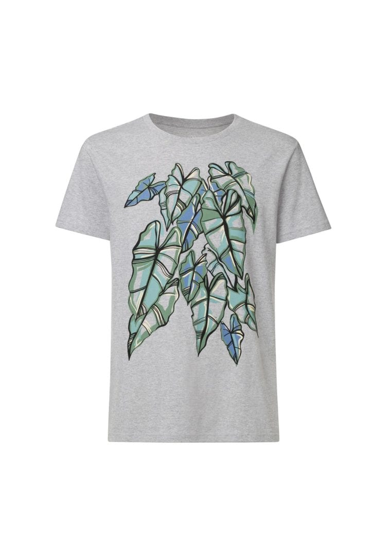 Herren T-Shirt Alocasia Hellgrau  von ThokkThokk
