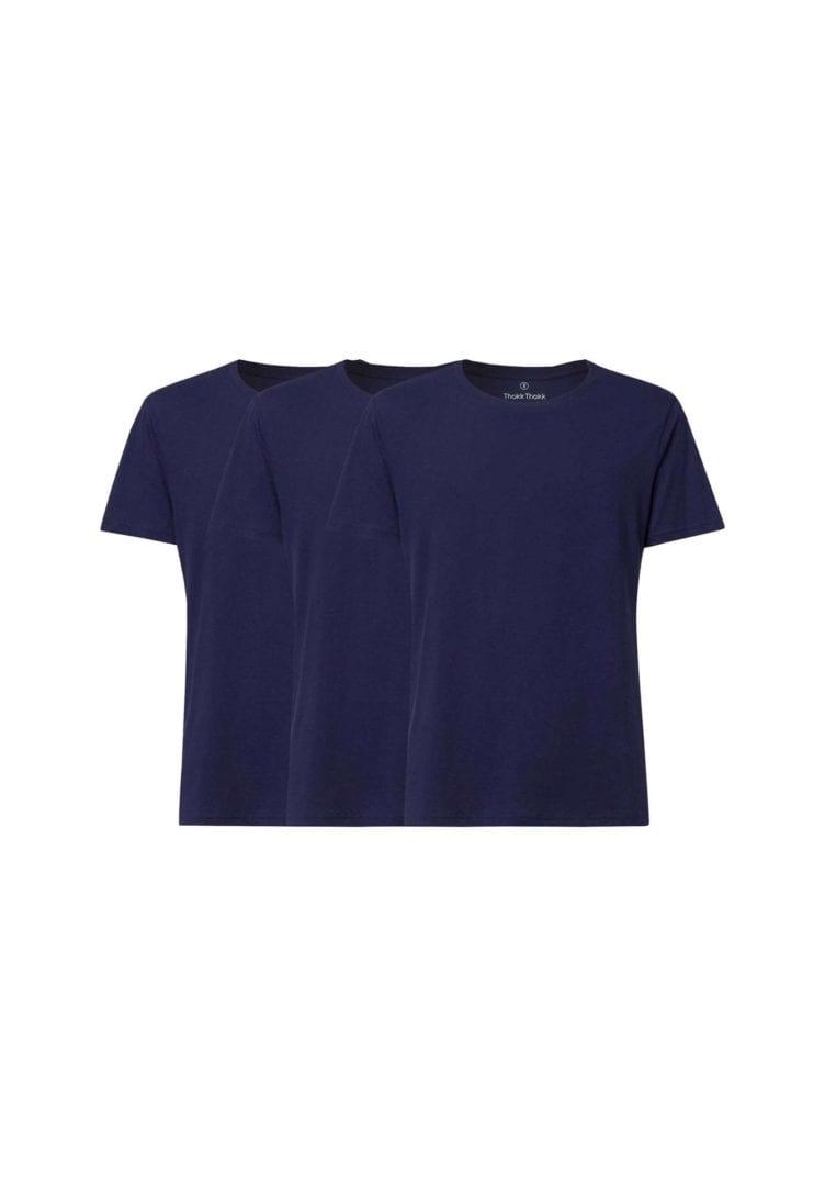 Herren T-Shirt Dunkelblau 3er Pack  von ThokkThokk