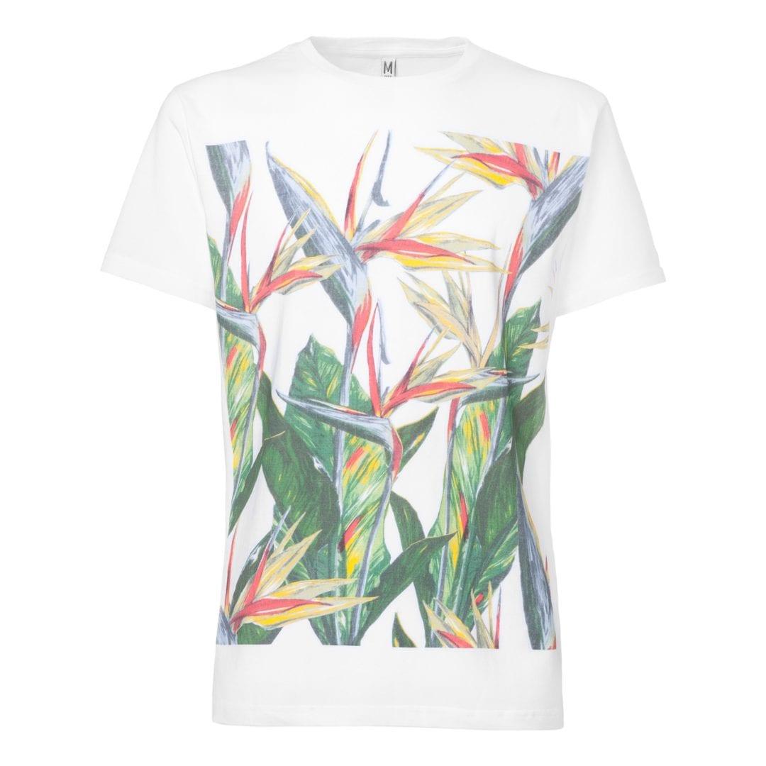 Herren T-Shirt Paradiseflower Weiß  von ThokkThokk