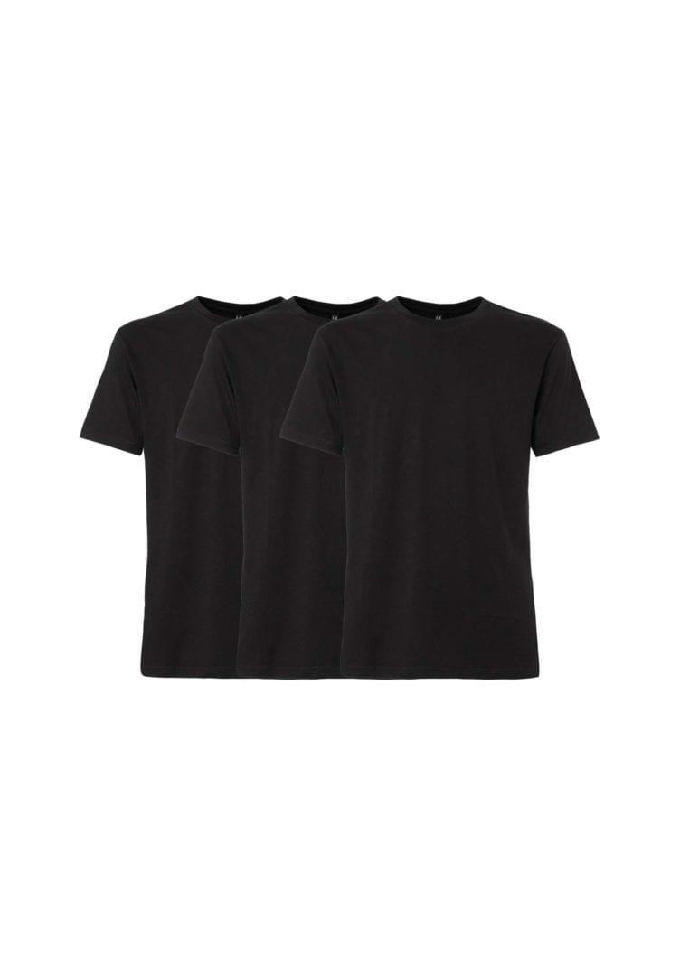 Herren T-Shirt Schwarz 3er Pack  von ThokkThokk