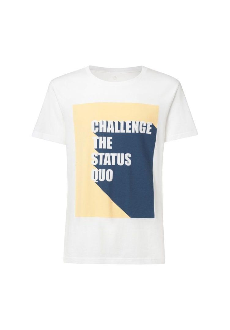 Herren T-Shirt Status Quo Weiß  von ThokkThokk