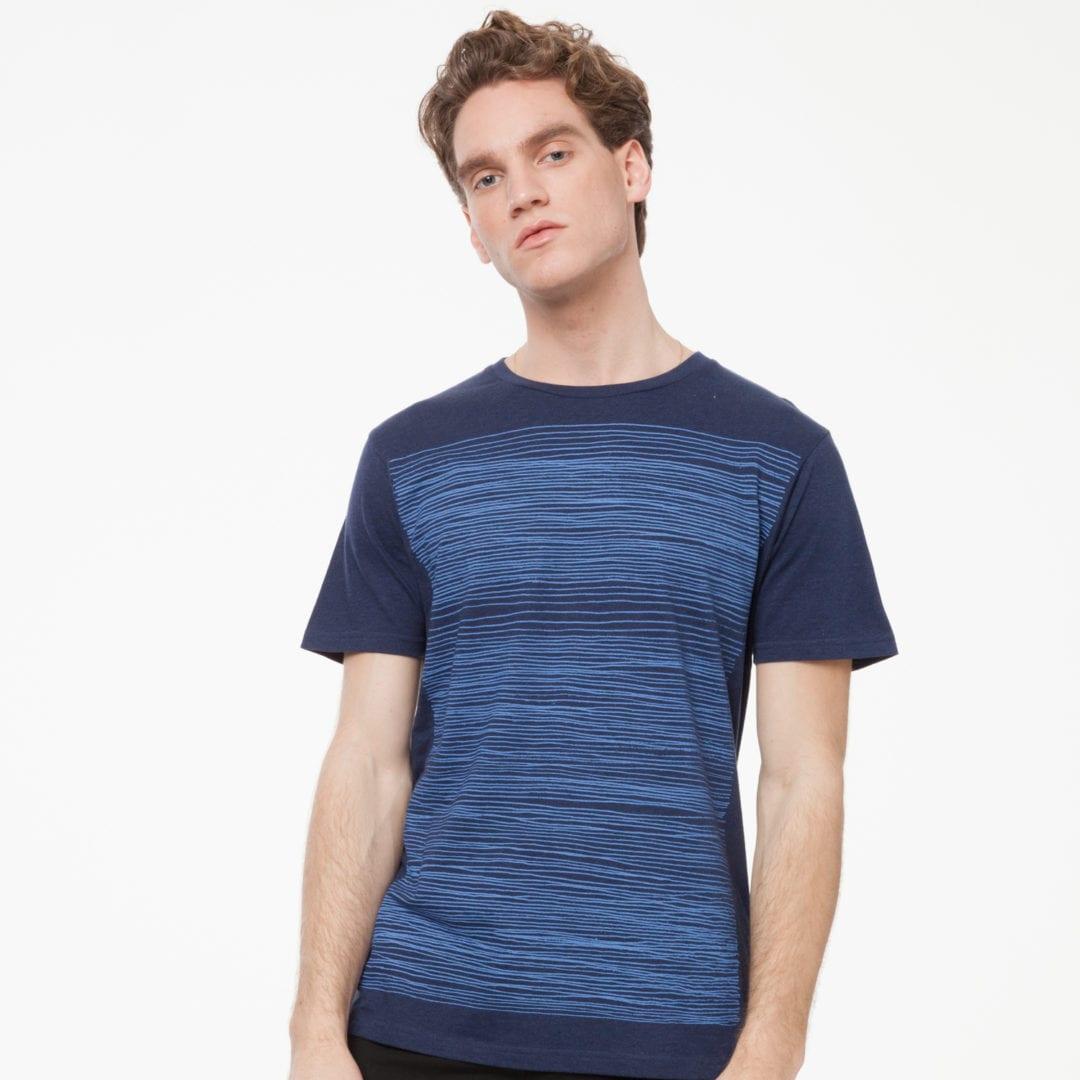 Herren T-Shirt Strokes Dunkelblau  von ThokkThokk