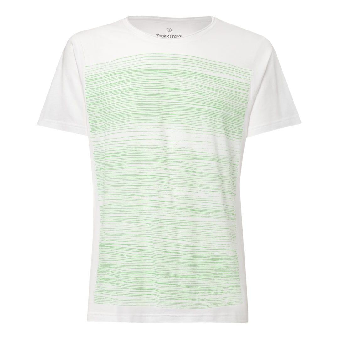 Herren T-Shirt Strokes Weiß  von ThokkThokk