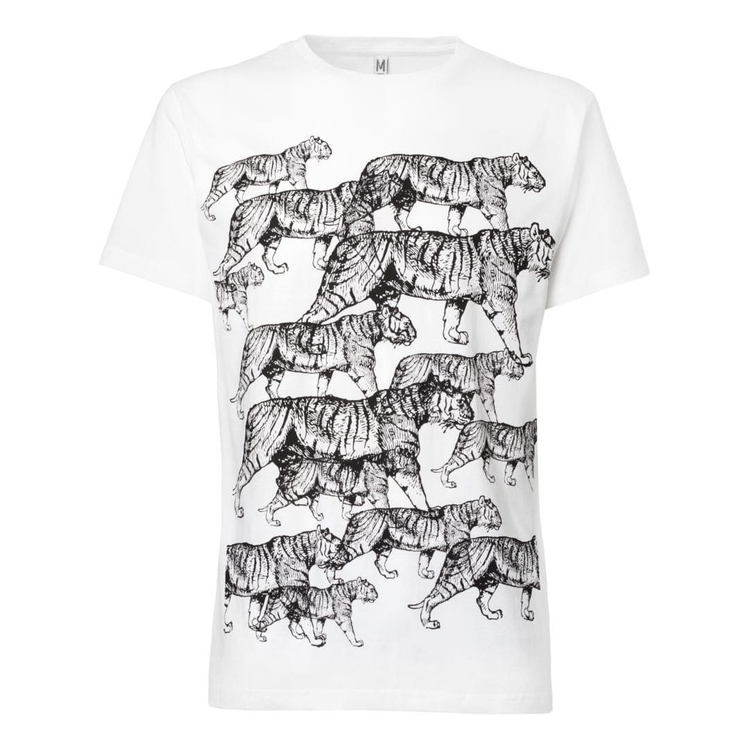 Herren T-Shirt Tiger Weiß  von ThokkThokk