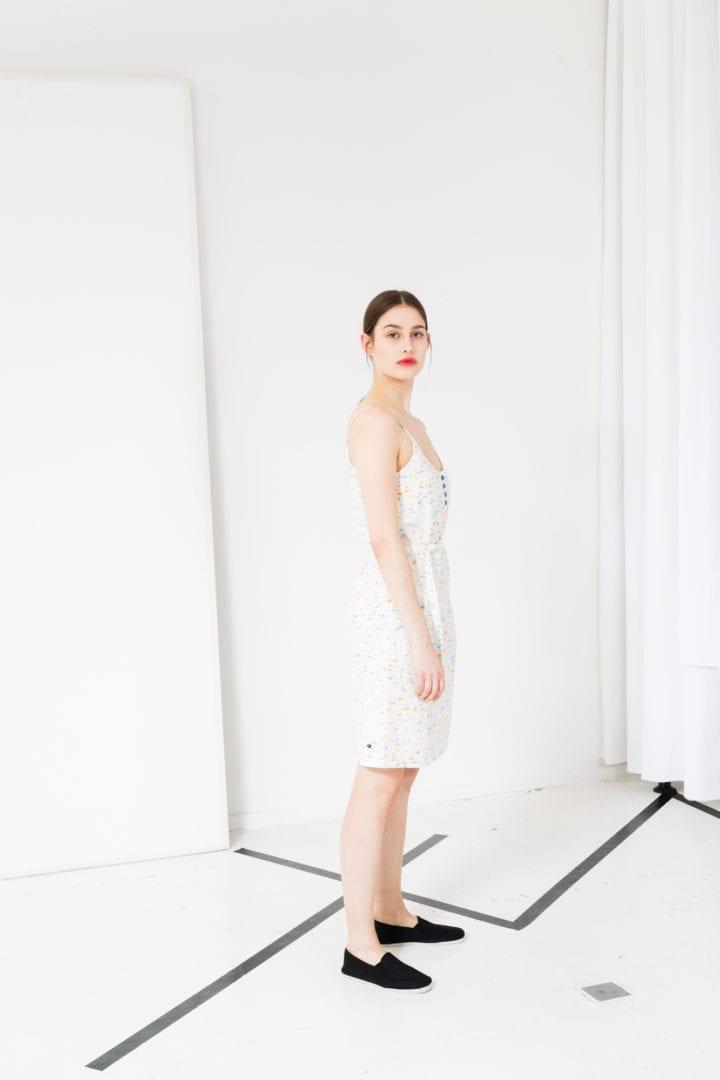 Kleid Marble Weiß  von ThokkThokk