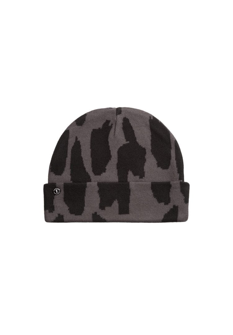 Mütze Dots Grau Schwarz  von ThokkThokk