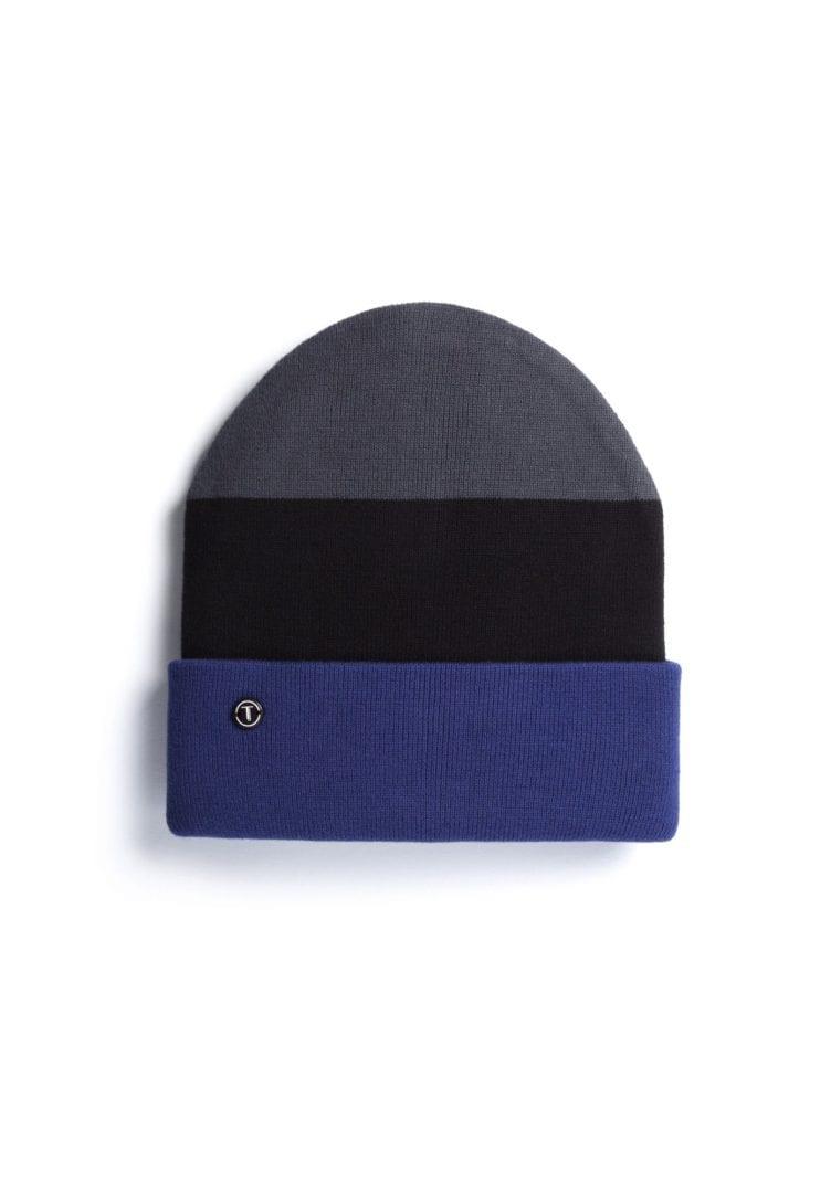 Mütze Grau Schwarz Blau  von ThokkThokk