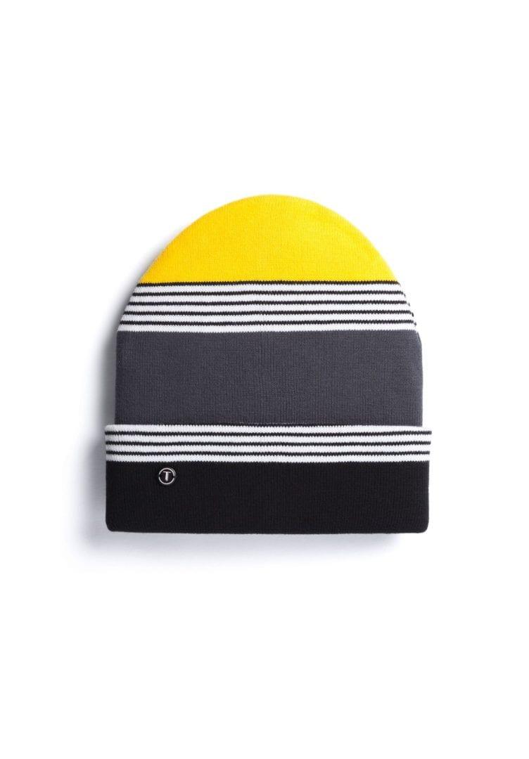 Mütze Schwarzweiß Grau Gelb  von ThokkThokk