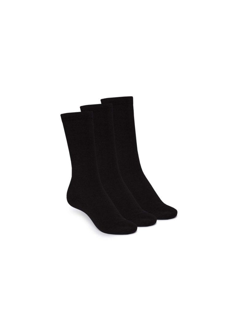 Socken Hoch Schwarz 3er Pack  von ThokkThokk