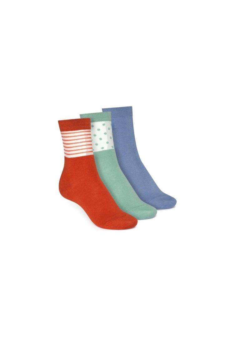 Socken Mittelhoch Blau Grün Rot 3er Pack  von ThokkThokk