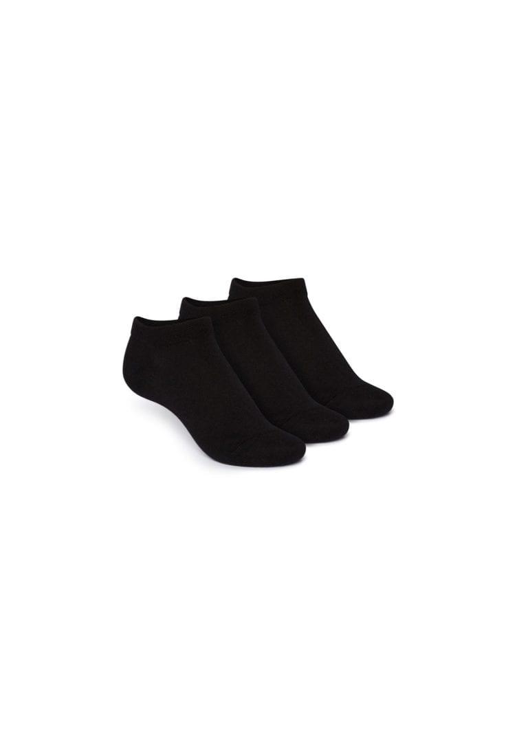 Socken Niedrig Schwarz 3er Pack  von ThokkThokk