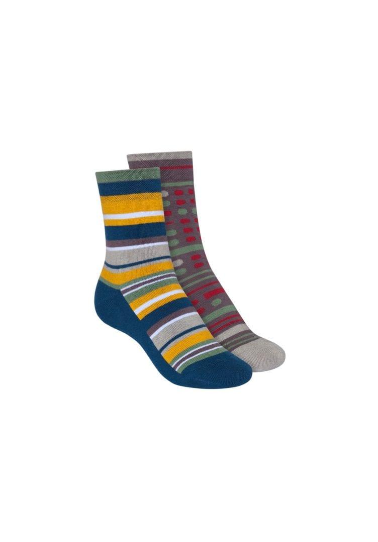 Socken Terry Mittelhoch Grau Blau 2er Pack  von ThokkThokk