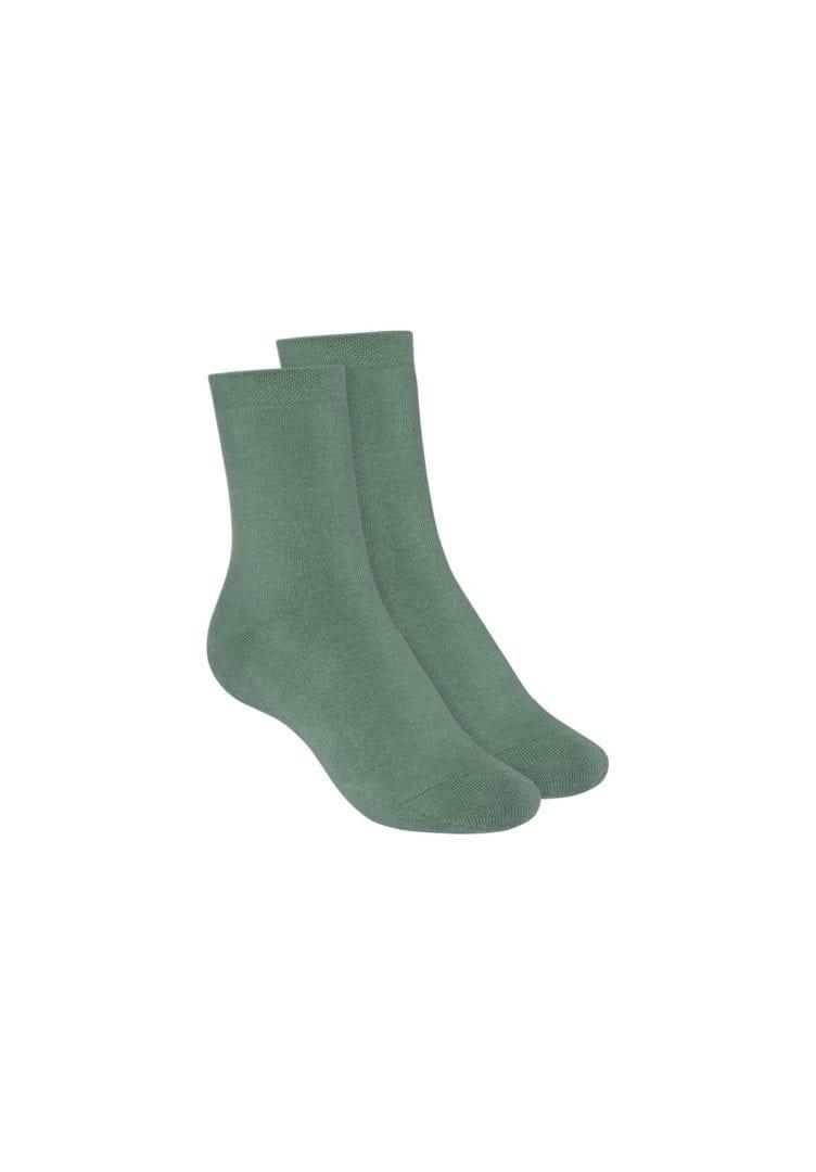 Socken Terry Mittelhoch Grün 2er Pack  von ThokkThokk