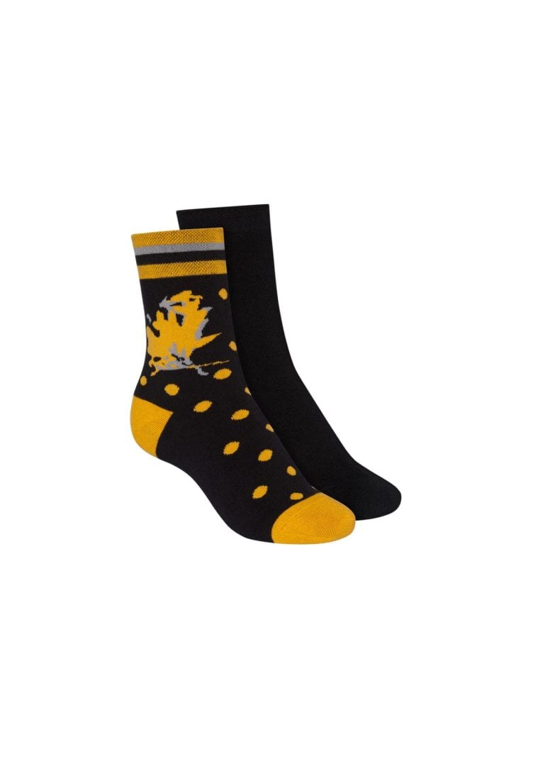Socken Terry Mittelhoch Schwarz 2er Pack  von ThokkThokk