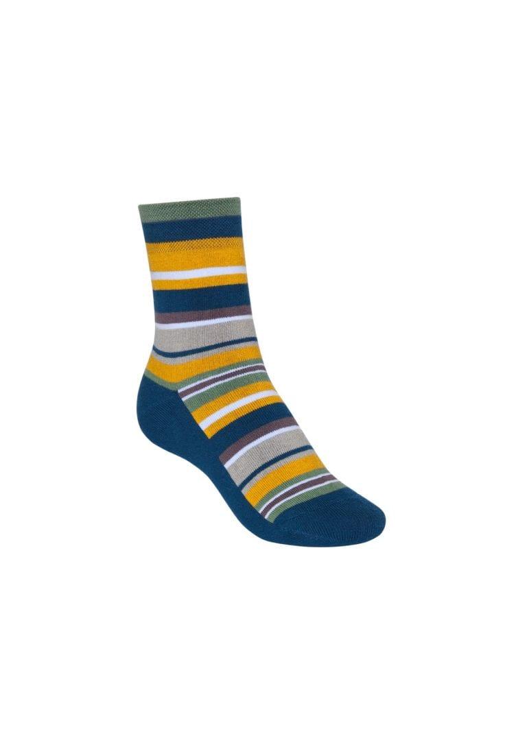 Socken Terry Mittelhoch Stripes Blau  von ThokkThokk