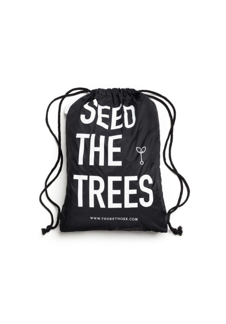 Turnbeutel Seed The Trees Schwarz  von ThokkThokk