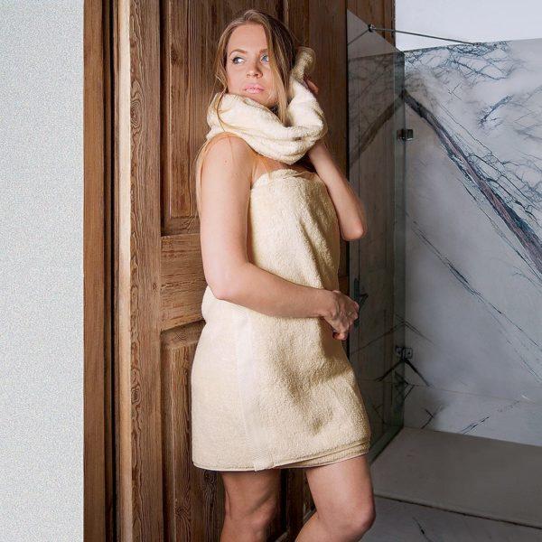 """Duschtuch """"Gradito"""" - 70x140 cm - grau von allnatura"""