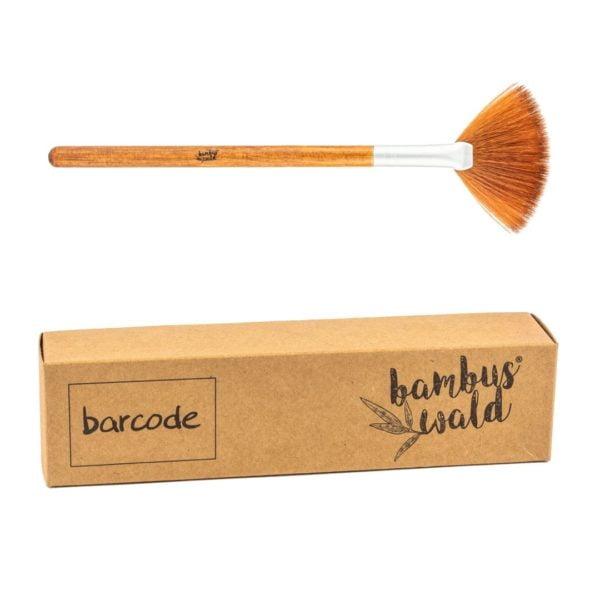 Ökologischer Schminkpinsel No.11 mit Griff aus Bambus & syntethischen Borsten - FAN BRUSH von Bambuswald