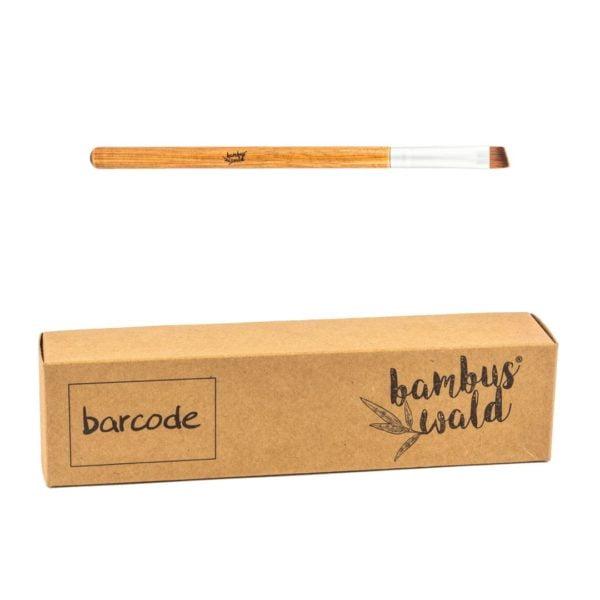 Ökologischer Schminkpinsel No.12 mit Griff aus Bambus & syntethischen Borsten - LIP BRUSH von Bambuswald