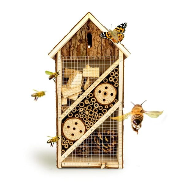 Tierfreundliches Insektenhotel in der Größe 19 5 x 10 x 37 cm für den Garten von Bambuswald