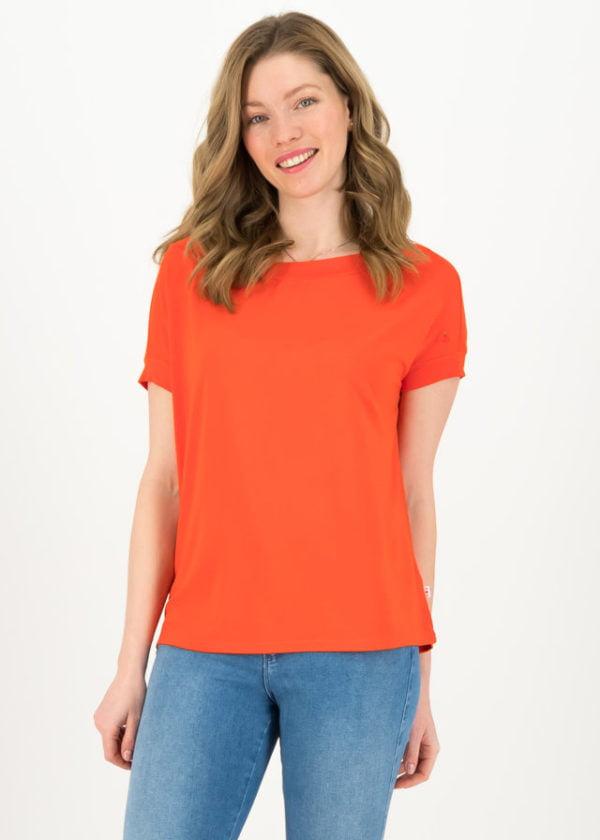 Basic Shirt Flowgirl Orange von blutsgeschwister