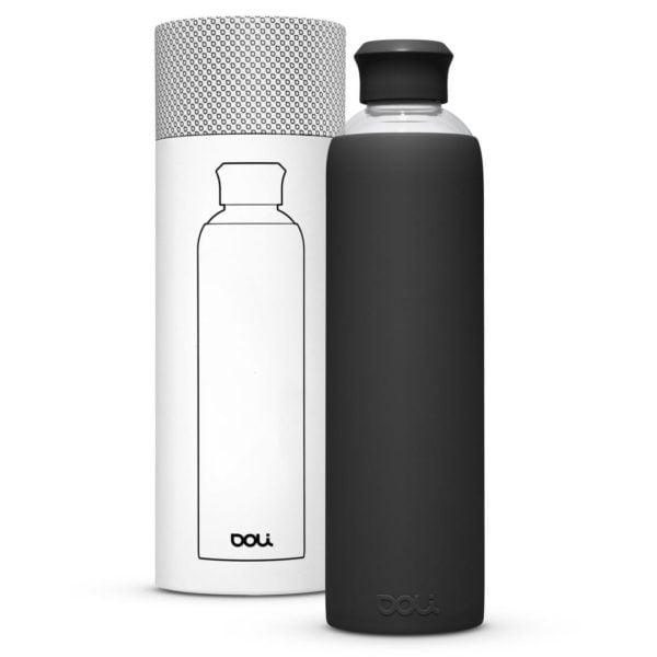 Trinkflasche aus Glas  Black 1L von Doli